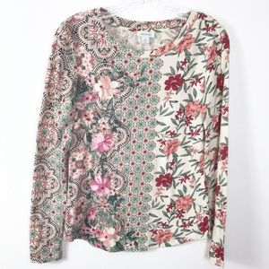 Sundance Embroidery Flowers Tee-Shirt XS